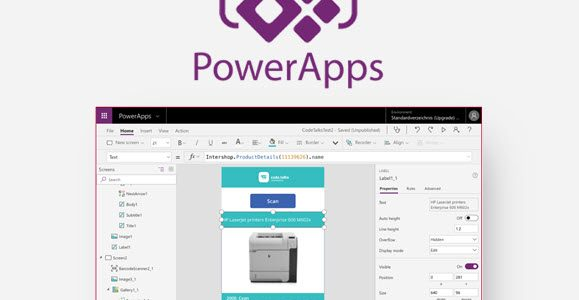 Develop PowerApps with Intershop