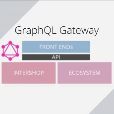 GraphQL Gateway: Overview of API mediation layer, front ends, Intershop and ecosystem